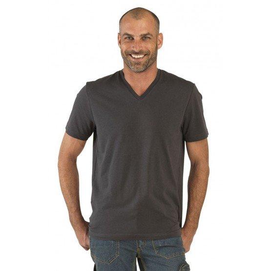 Tee-shirt professionnel travail manches courtes homme aide domicile infirmier auxiliaire vie medical - ARDOISE
