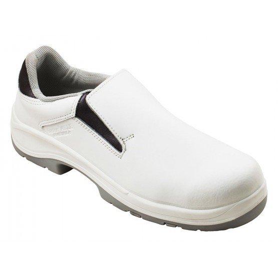 Chaussure cuisine securite S2 professionnelle travail blanche noire ISO EN 20345 S2 mixte restauration serveur restaurant - BLAN