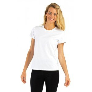 Tee-shirt professionnel travail manches courtes 100% coton femme medical auxiliaire vie infirmier aide domicile - BLANC