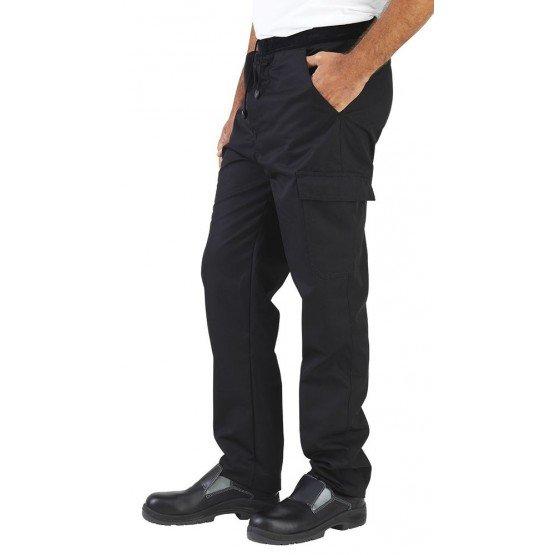 NOIR - Pantalon professionnelle de travail homme - PROMO hôtel restauration restaurant cuisine