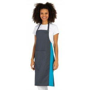 Tablier cuisine professionnel femme restauration cuisine serveur hotel - ARDOISE/ATOLL