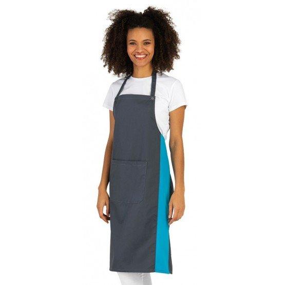 Tablier cuisine professionnel femme hotel restaurant cuisine restauration - ARDOISE/ATOLL