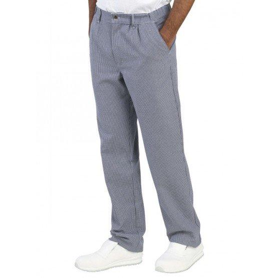 PIED DE POULE - Pantalon de cuisine professionnelle de travail 100% coton homme restaurant restauration serveur hôtel