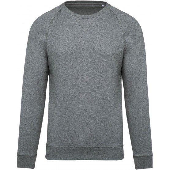 GRIS - Sweat shirt Bio professionnelle de travail 80% coton biologique / 20% polyester certifié OCS Blended - Organic Content St