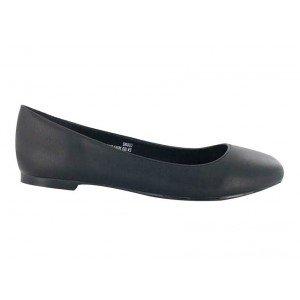 Chaussure service LIVERPOOL professionnelle travail noire cuir ISO EN 20347 femme hotel traiteur eleve serveur - NOIR