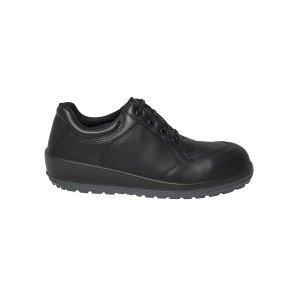 Chaussure securite professionnelle travail noire cuir ISO EN 20345 S3 femme chantier entretien artisan menage - NOIR
