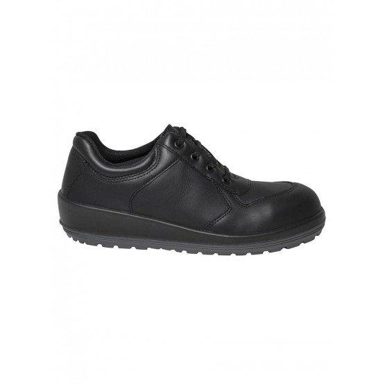 Chaussure securite S3 professionnelle travail noire cuir ISO EN 20345 S3 femme chantier menage artisan entretien - NOIR
