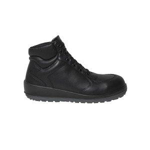 Chaussure securite S3 professionnelle travail noire cuir ISO EN 20345 S3 femme artisan entretien chantier menage - NOIR