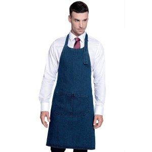 Tablier service cuisine professionnel noir 100% coton mixte serveur traiteur ecole etudiant - JEAN