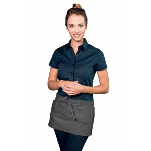 Tablier service cuisine professionnel noir 100% coton mixte restaurant patissier foyer apprentis - ARDOISE