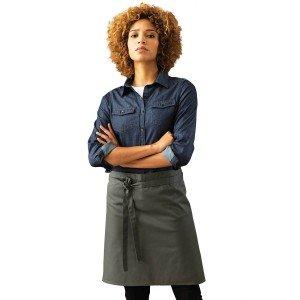 Tablier mi-long cuisine professionnel noir mixte restauration cuisine serveur restaurant - ARDOISE