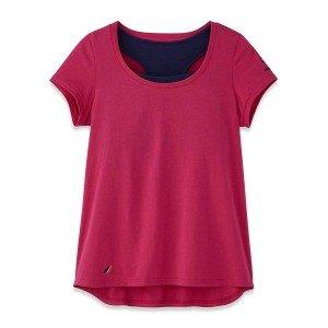 Tee shirt brassiere professionnel travail femme infirmier auxiliaire vie medical aide domicile - FUCHSIA