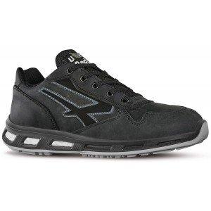 Chaussure securite professionnelle travail noire cuir ISO EN 20345 S3 homme - PROMO logistique artisan transport chantier - NOIR