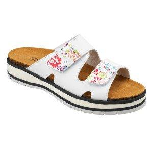 Sandale professionnel travail blanc cuir ISO EN 20347 femme foyer menage creche entretien