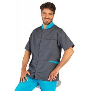 Tunique professionnelle travail manches courtes homme auxiliaire vie infirmier aide domicile medical