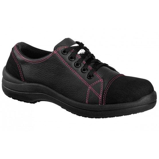 Chaussure securite S3 professionnelle travail noire cuir ISO EN 20345 S3 femme artisan menage chantier entretien - NOIR