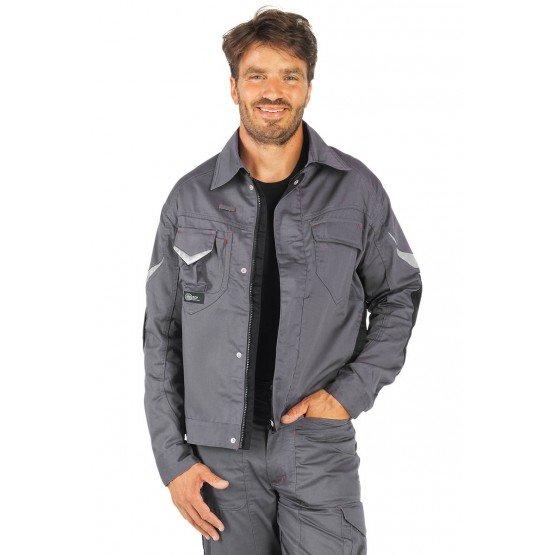 Blouson professionnel travail homme manutention artisan logistique chantier - GRIS/NOIR