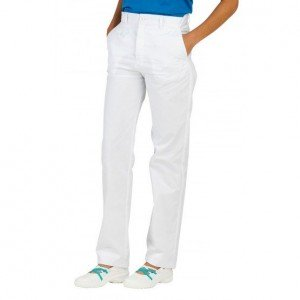 Pantalon professionnel travail femme aide domicile medical auxiliaire vie infirmier - BLANC