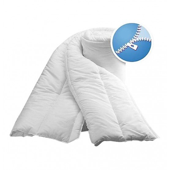 Couette professionnelle hebergement foyer blanche 100% polyester emerise, toucher peau peche auxiliaire vie medical aide - BLANC