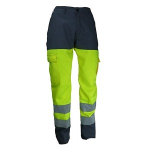Pantalon travail professionnel homme transport artisan manutention chantier - GRIS/JAUNE
