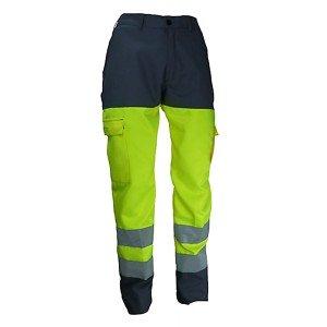 Pantalon travail professionnel homme transport artisan manutention chantier - GRIS/JAUNE