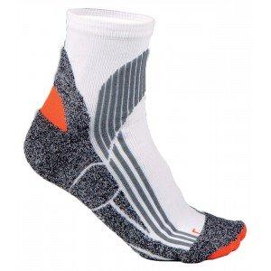 Chaussettes mi-courtes ergonomiques professionnelle travail mixte aide domicile medical auxiliaire vie infirmier - BLANC