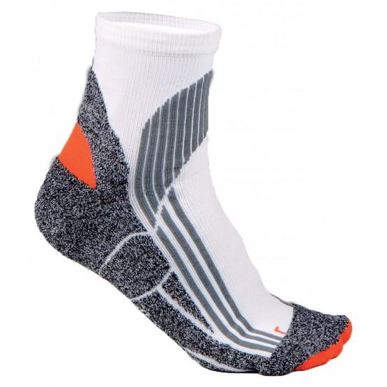 BLANC - Chaussettes mi-courtes ergonomiques professionnelle de travail mixte auxiliaire de vie médical aide a domicile infirmier