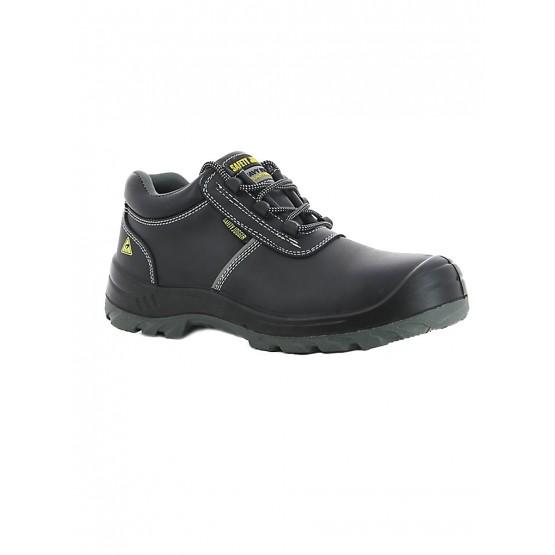 NOIR - Chaussure de sécurité S3 professionnelle de travail noire en cuir ISO EN 20345 S3 mixte internat artisan transport menage