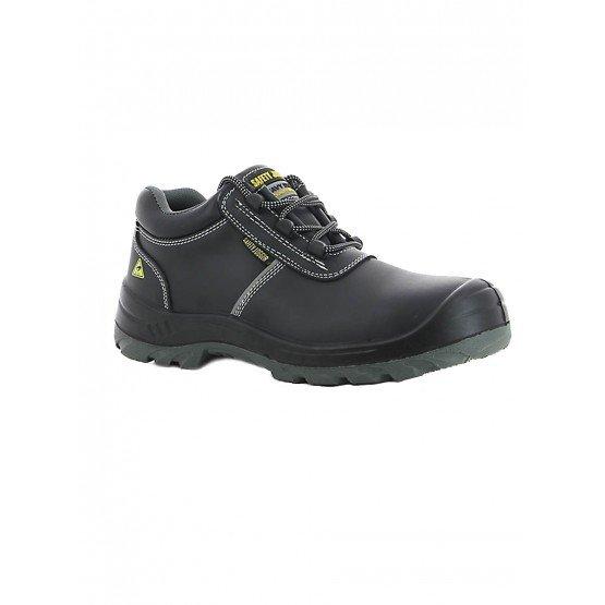 Chaussure securite S3 professionnelle travail noire cuir ISO EN 20345 S3 mixte chantier menage artisan entretien - NOIR