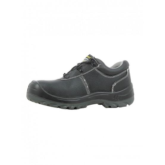 NOIR - Chaussure de sécurité S3 professionnelle de travail noire en cuir ISO EN 20345 S3 mixte artisan entretien chantier menage