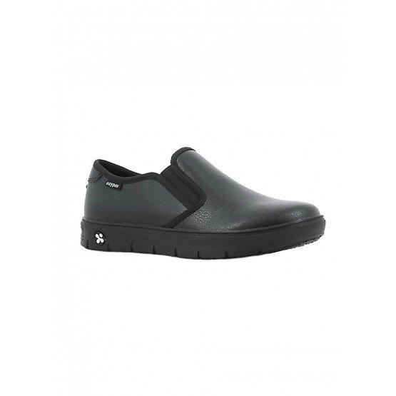 Chaussure travail professionnelle blanche noire ISO EN 20347 femme aide domicile infirmier auxiliaire vie medical - NOIR