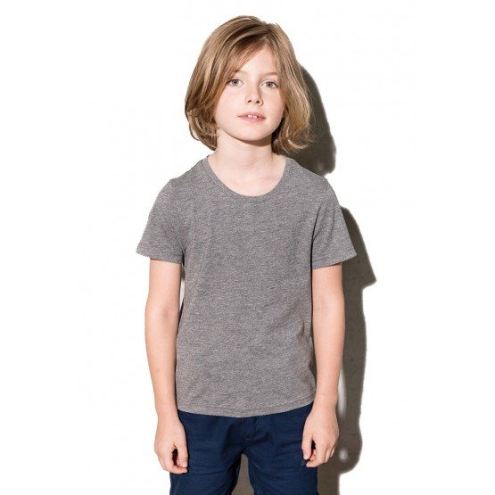 Tee-shirt professionnel travail manches courtes BIO 100% coton - GRIS