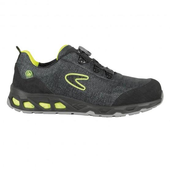 NOIR - Chaussure de sécurité S1P professionnelle de travail noire ISO EN 20345 S1P mixte transport chantier manutention artisan