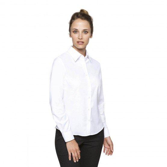 BLANC - Chemisier ML Femme professionnelle de travail femme hôtel restauration serveur restaurant
