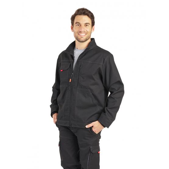 Blouson professionnel travail homme transport chantier logistique artisan - NOIR
