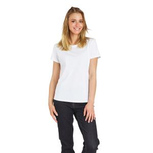 Tee-shirt professionnel travail manches courtes femme medical auxiliaire vie infirmier aide domicile - BLANC