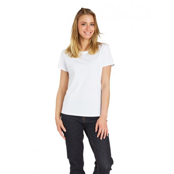 BLANC - Tee-shirt professionnelle de travail à manches courtes femme auxiliaire de vie médical aide a domicile infirmier