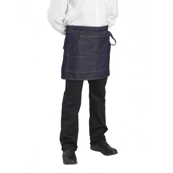 DENIM - Tablier de service de cuisine professionnel mixte cuisine hôtel restaurant restauration