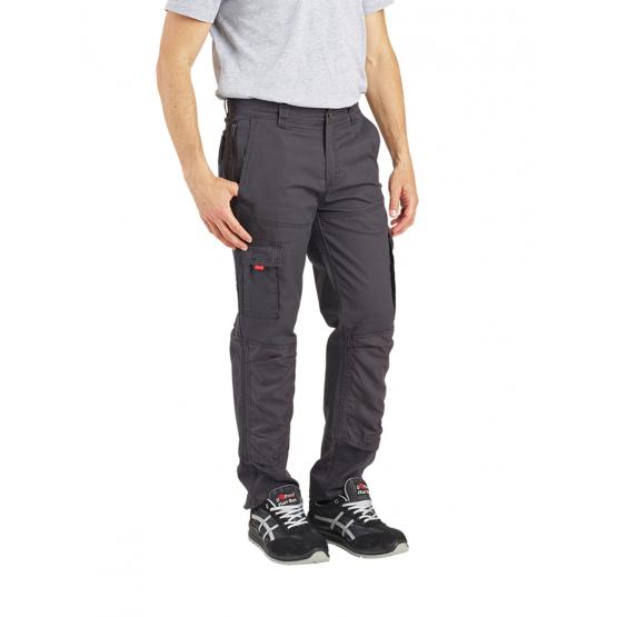 GRIS/NOIR - Pantalon de travail professionnelle homme logistique artisan manutention chantier