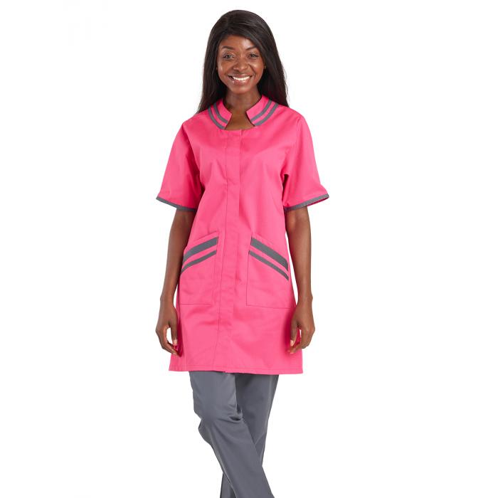 ECHOPPE Blouse Professionnelle de Travail /à Manches Courtes Femme Entretien Aide a Domicile Menage auxiliaire de Vie