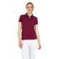 DENIM/BORDEAUX - Polo professionnelle de travail 100% coton femme auxiliaire de vie médical aide a domicile infirmier