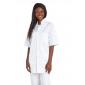 BLANC - Veste de cuisine manches courtes professionnelle de travail à manches courtes 100% coton mixte serveur médical hôtel inf
