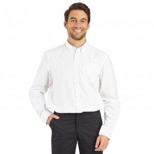 Chemise ML Homme professionnelle travail homme restaurant cuisine restauration serveur - BLANC