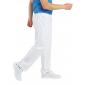 Pantalon professionnel travail mixte aide domicile medical auxiliaire vie infirmier - BLANC