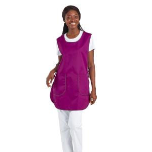 Chasuble tablier blouse professionnel blanche femme entretien auxiliaire vie menage aide domicile - PRUNILLE