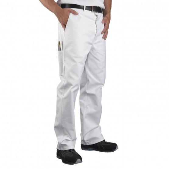 Pantalon travail professionnel homme artisan entretien chantier menage - BLANC