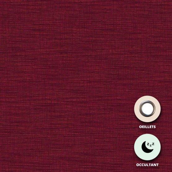 04 BORDEAUX - Rideau occultant confectionné professionnelle hébergement foyer 100% polyester / acrylique envers floqué blanc éco