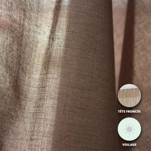 95 TAUPE - Voilage confectionné professionnelle hébergement foyer blanche 100% Polyester internat foyer école crèche