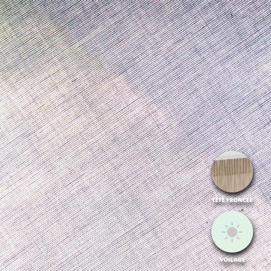 Voilage sur oeillets Versailles Disponible en 150 x 250, 200 x 250 et 250 x 250 - BLANC