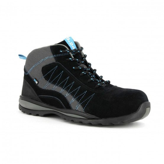 NOIR - Chaussure de sécurité S3 professionnelle de travail noire ISO EN 20345 S3 mixte logistique artisan manutention chantier